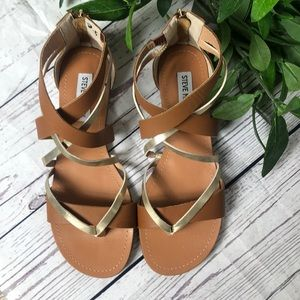 Steve Madden multi strap back zip sandals